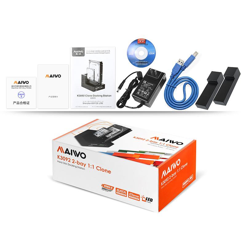 K3092 1:1 USB3.0 Clone Docking station