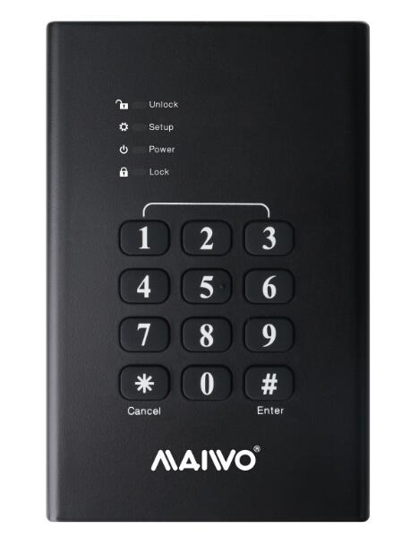 K2568KPA Keypad security USB3.2 GEN1 to SATA HDD Enclosure