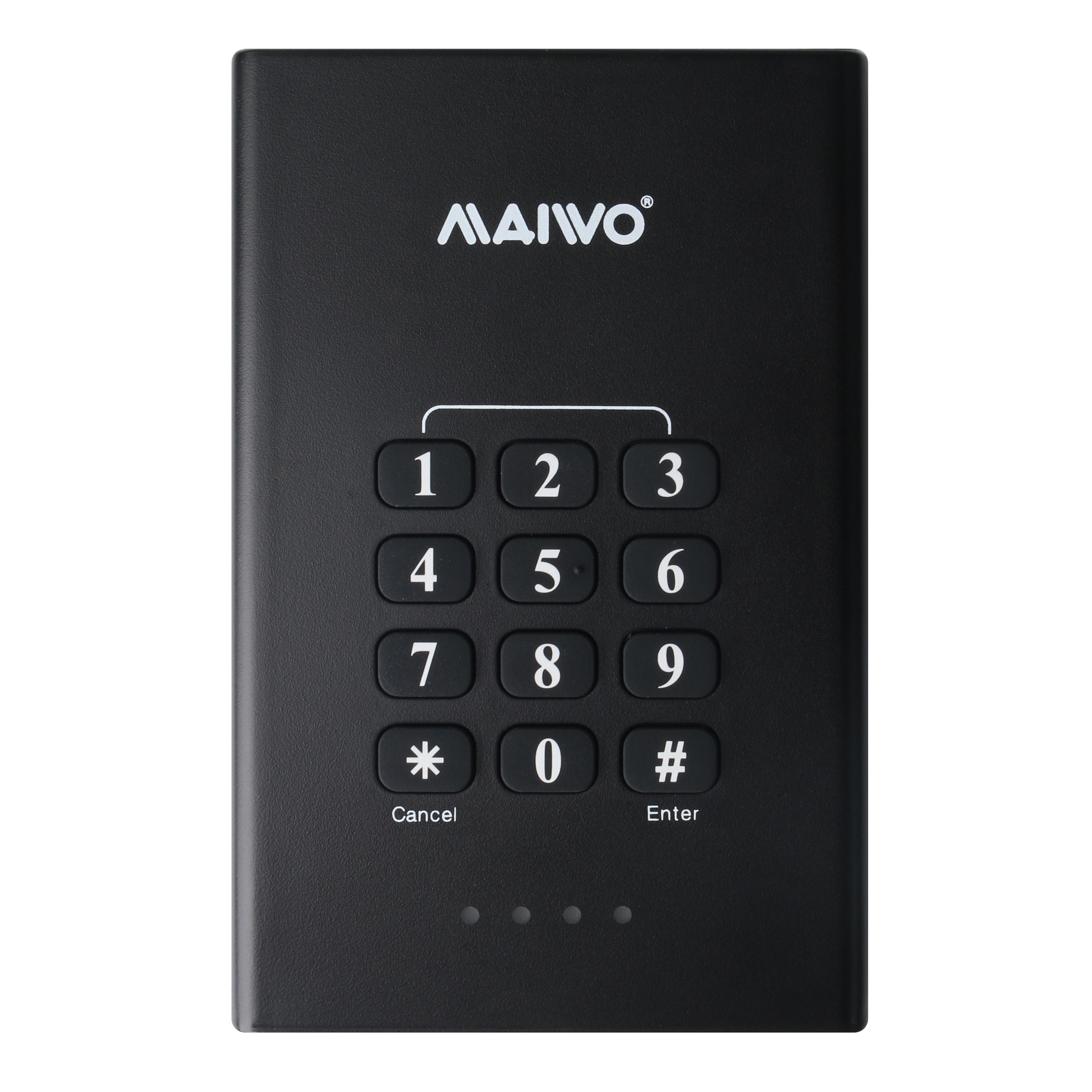 K2568KPB Keypad security USB3.2 GEN1 to SATA HDD Enclosure