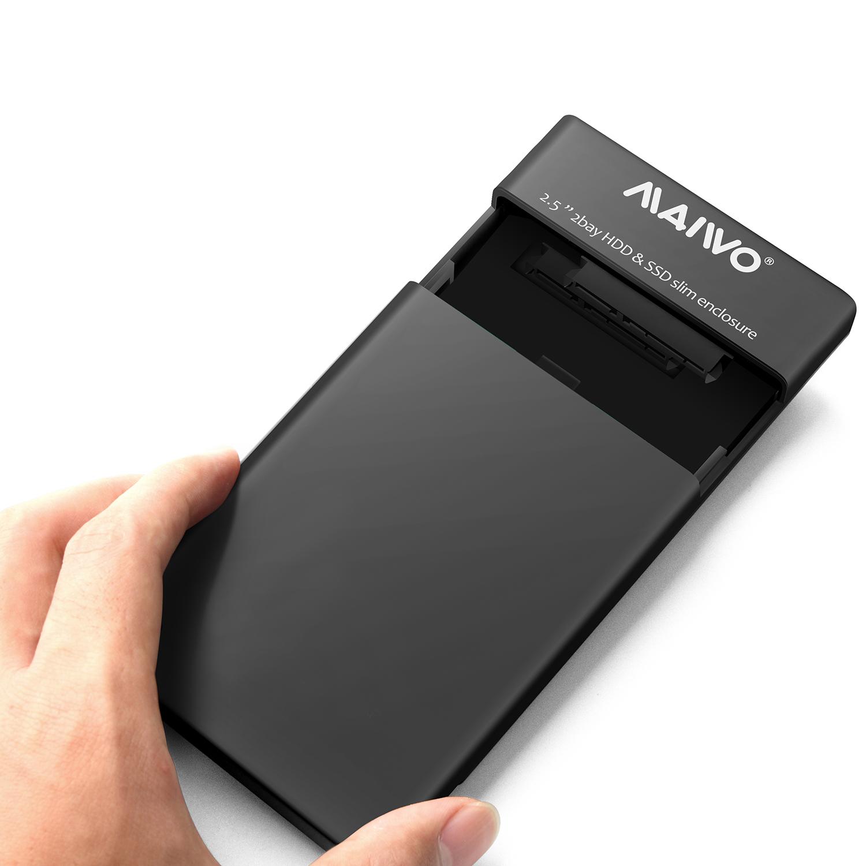 K25682 2Bay screwless USB3.2 GEN1 HDD Enclosure