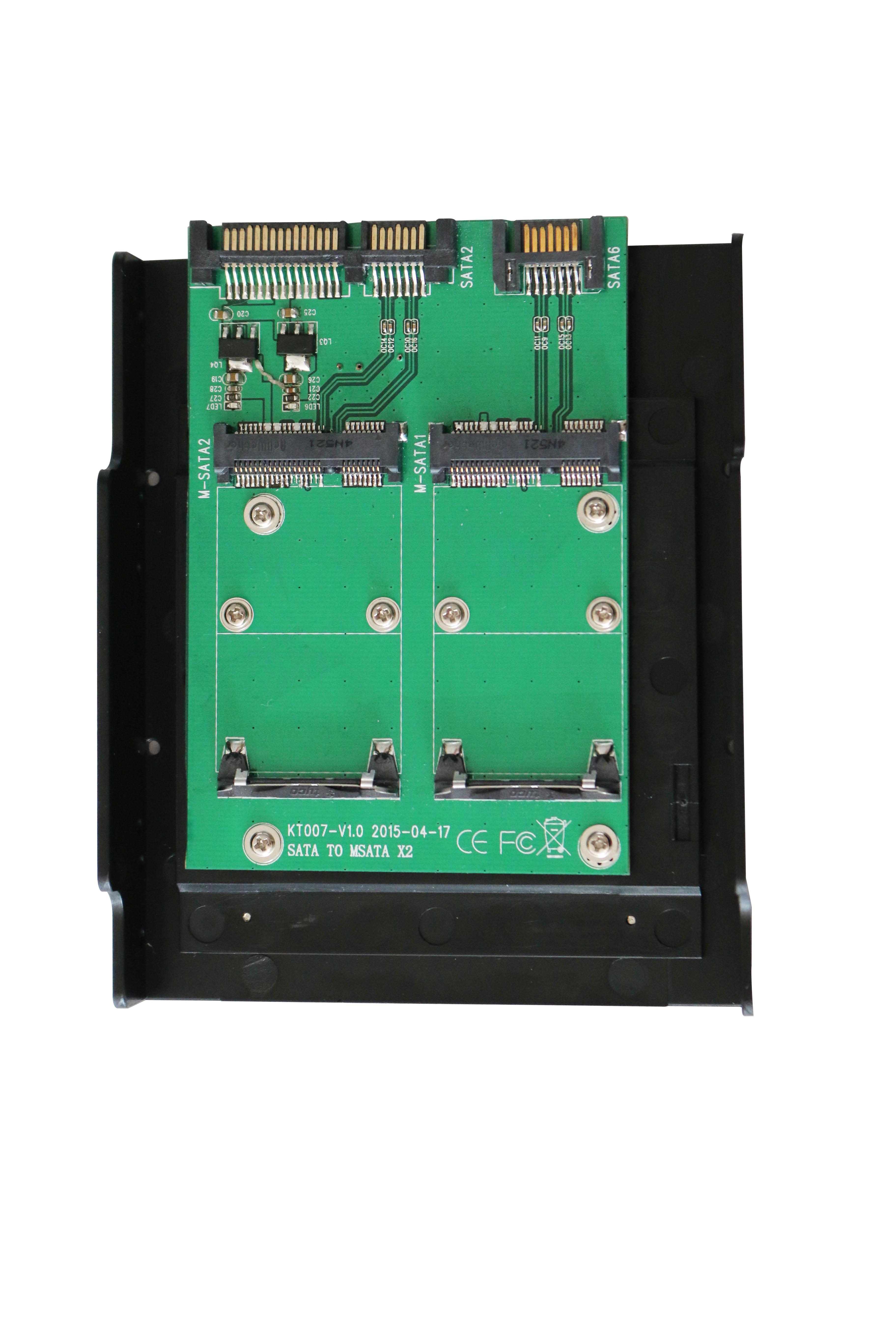 KT007B 2xSATA TO 2xmSATA Convertor