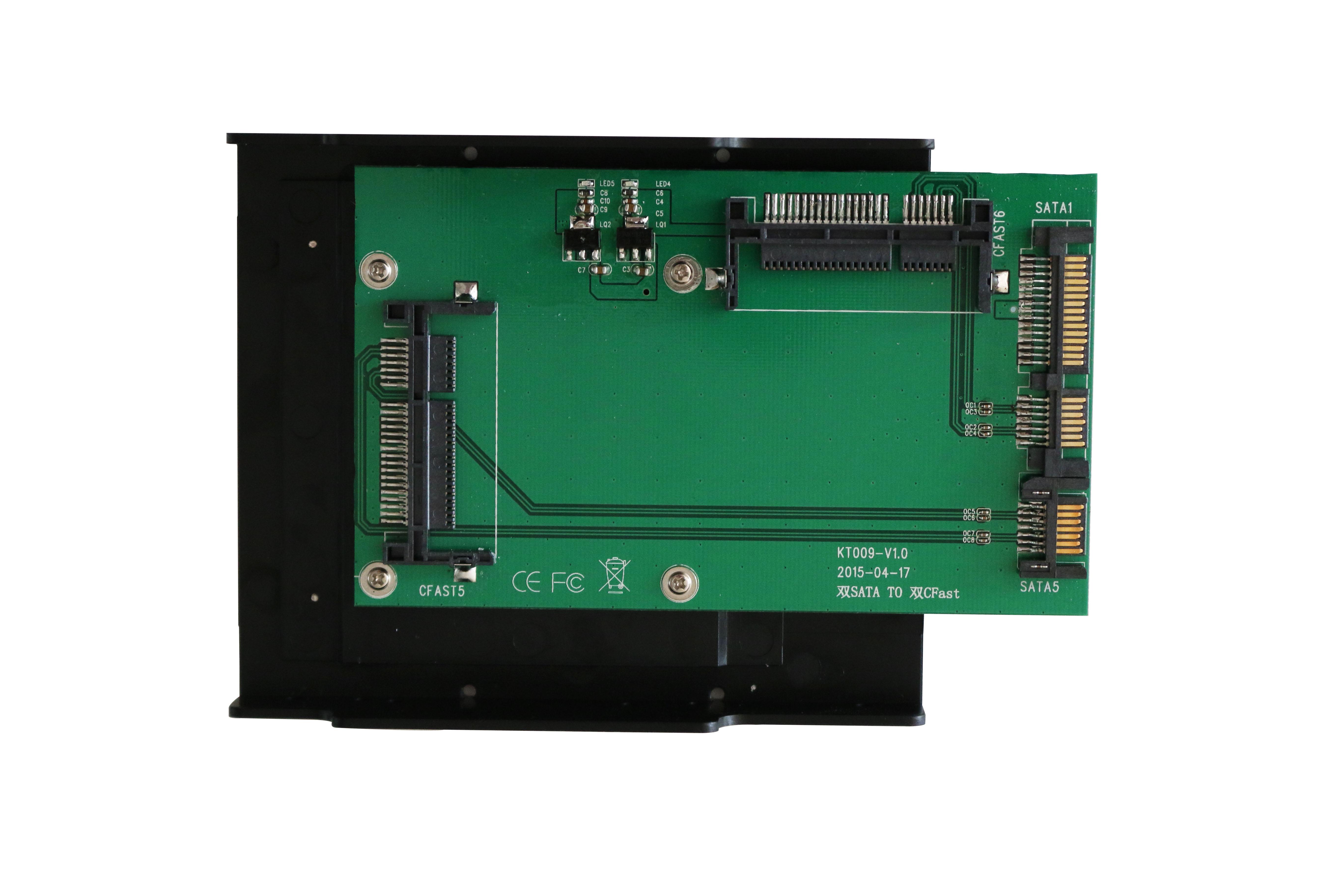 KT009B 2xSATA TO 2xCFast Convertor
