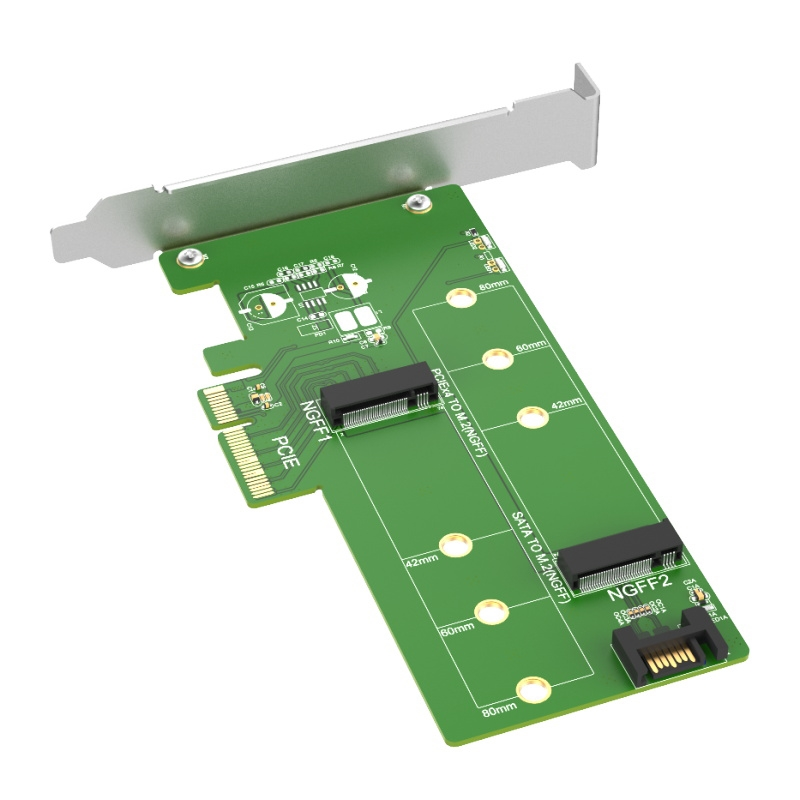 KT015 PCIE TO M.2 PCIe SSD & SATA to M.2 SATA SSD Card