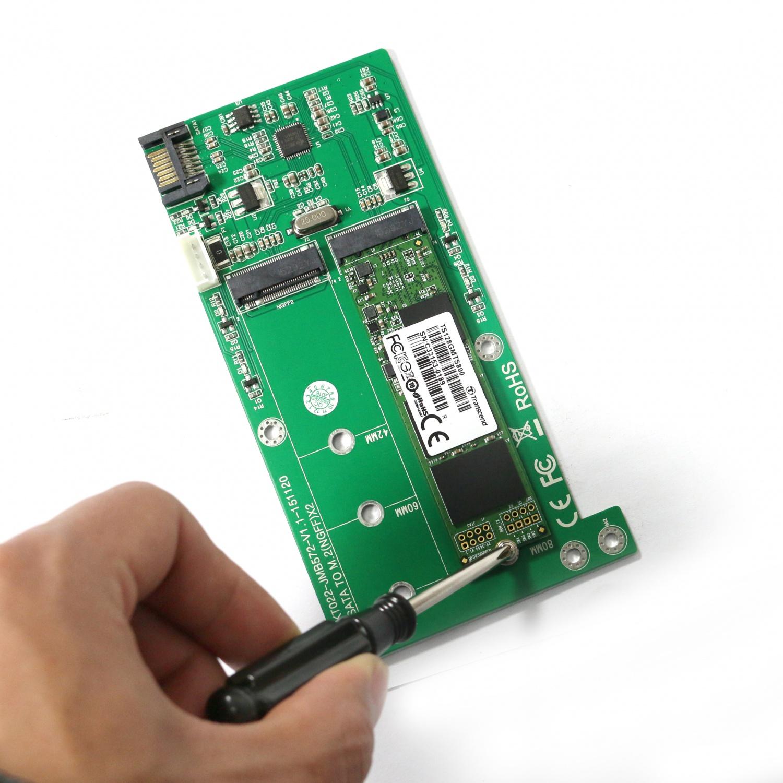 KT022B SATA TO 2xM.2 Convertor