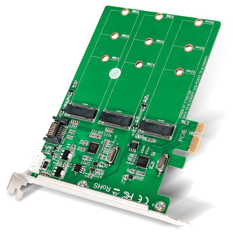 KT024 PCIE TO 3xM.2 SATA SSD