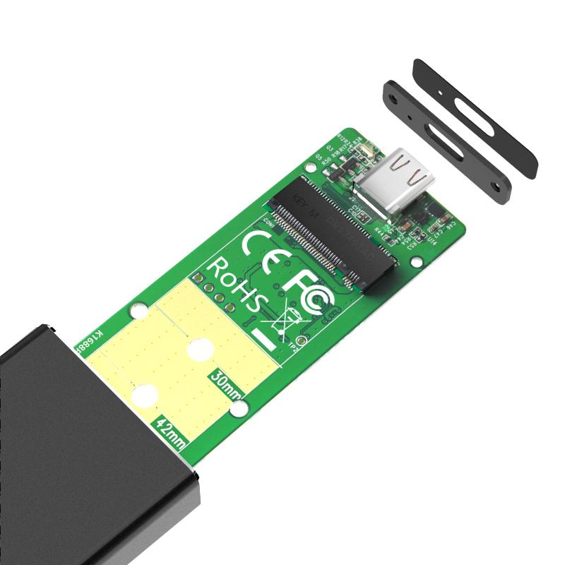 K1688P TypeC USB 3.1GEN2  to PCIe NVMe Enclosure
