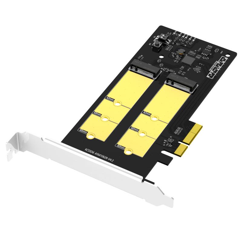 KCSSD6 plus  NEW RAID Dual bay M.2 SSD PCIe card