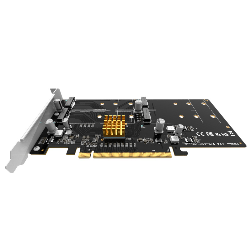 KCSSD7 PCIe to 4bay NVMe M.2 SSD