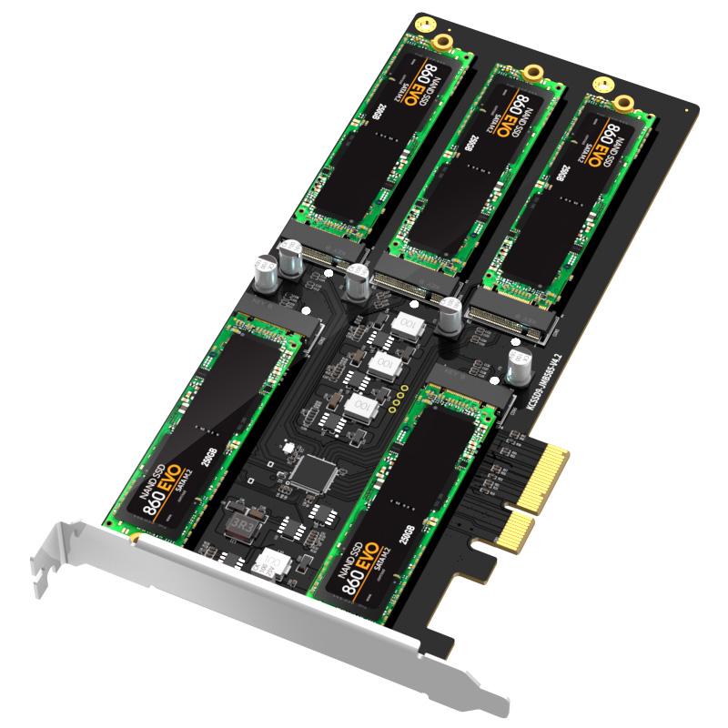 KCSSD9 PCIe to 5 baySATA M.2 SSD