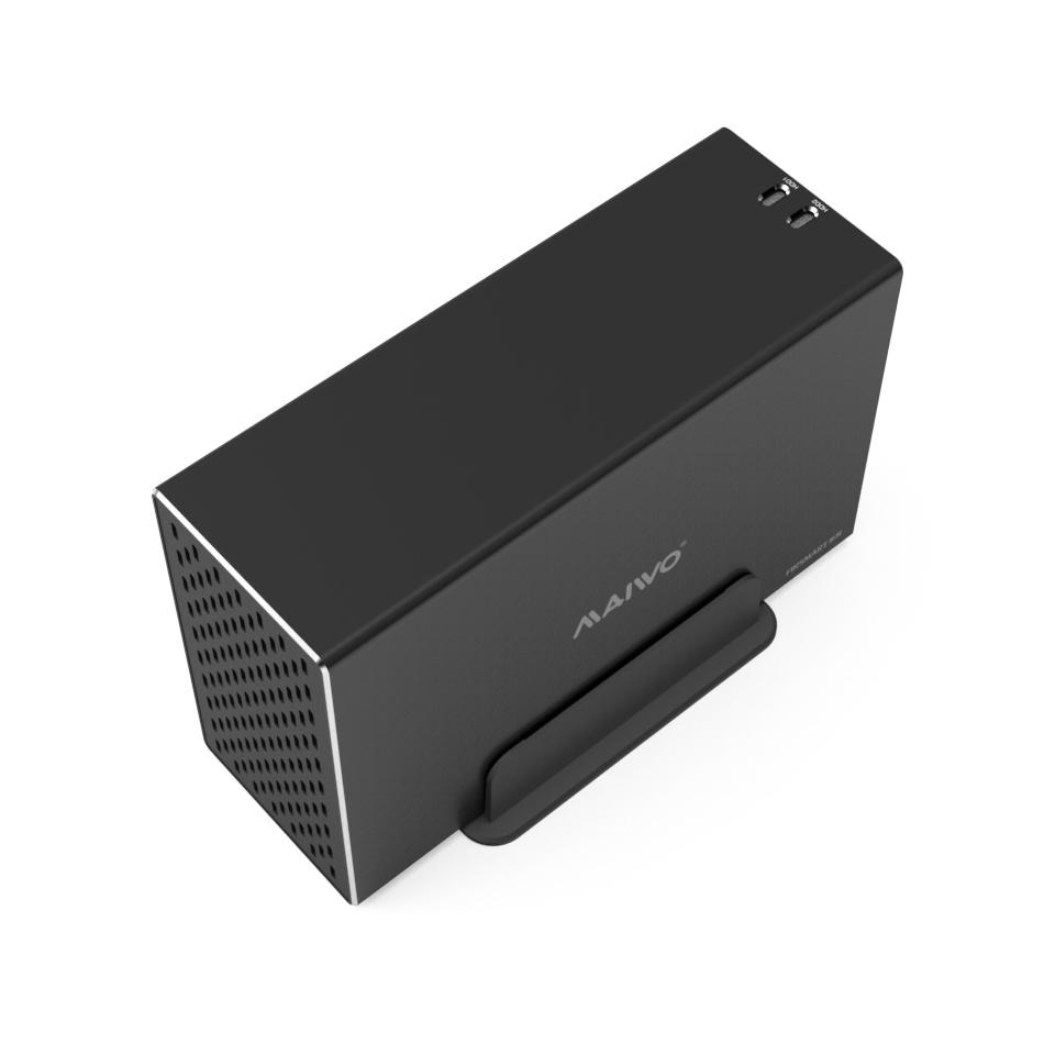 K35272U3 3.5'' Dual bay USB3.2 GEN1 HDD Enclosure with Riad