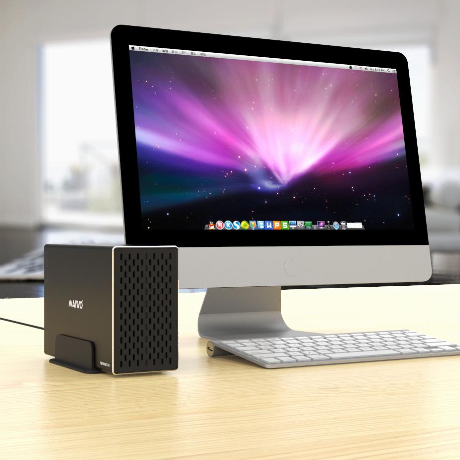 K35272C 3.5'' TypeC dual bay USB3.1 GEN2 HDD Enclosure