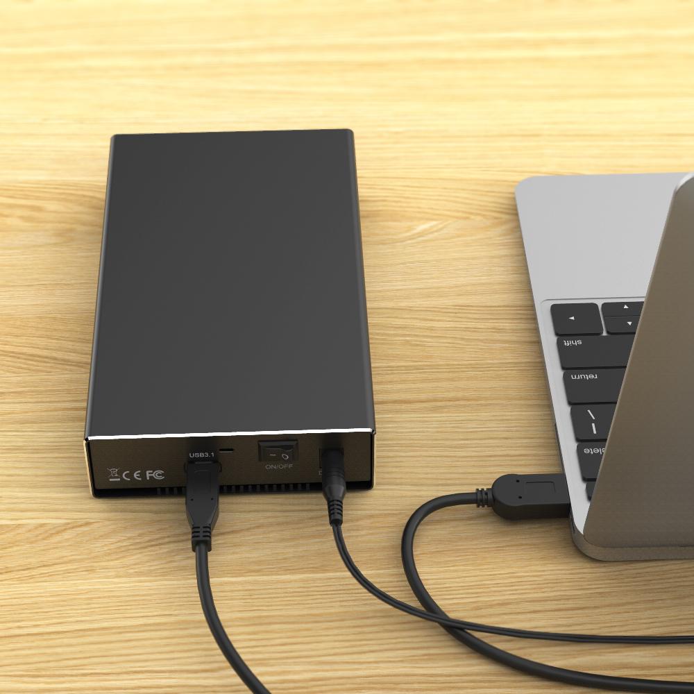 K3527C TypeC USB3.1 GEN2 singel bay external hdd enclosure