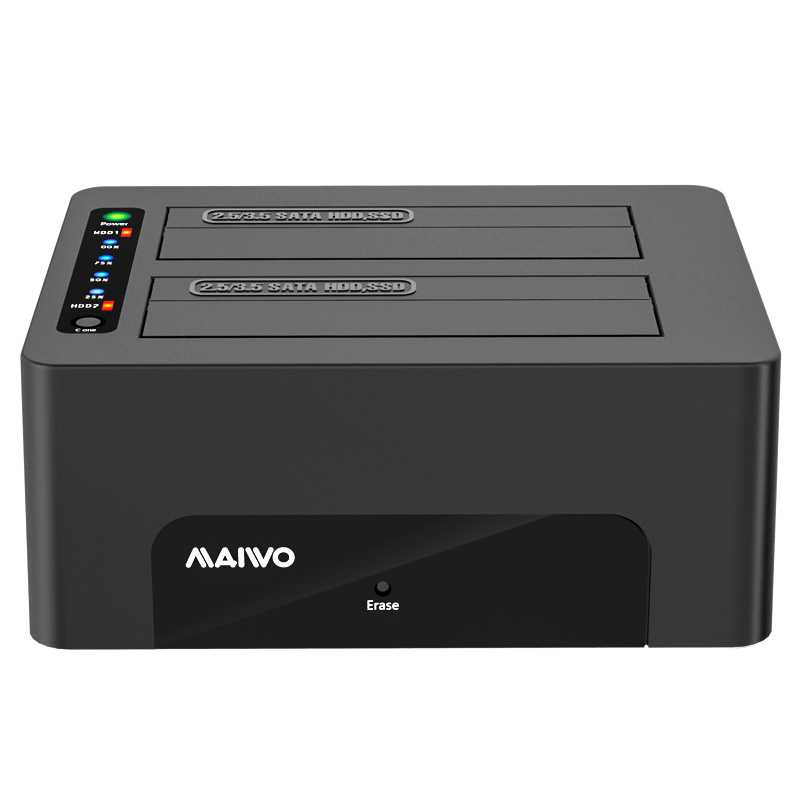 MAIWO K3082CE USB3.2 Gen1(5Gbps) clone and erase HDD dock