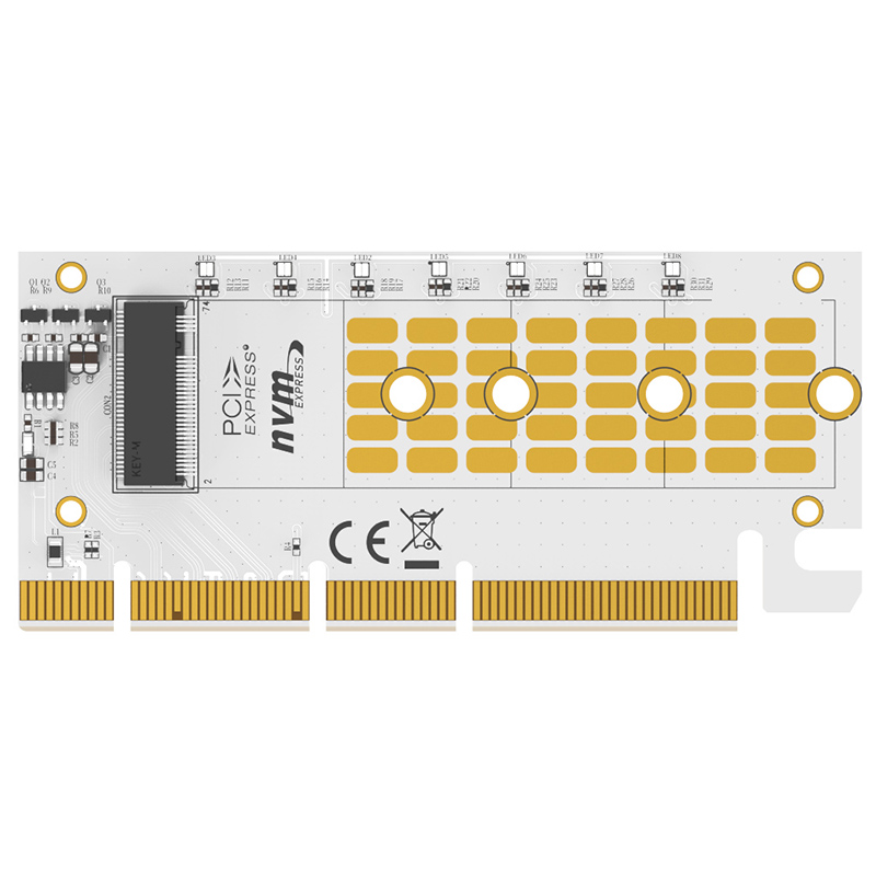 MAIWO M.2 expansion card KT058A NVMe SSD to PCIe 3.0 X16/X8/X4 adapter