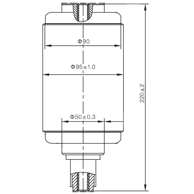 Vacuum Interrupter TD-12KV 1250A 31.5J (JUC2315) from JUCRO Electric