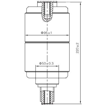 Vacuum Interrupter TD-12KV 1600A 31.5J1 (JUC2331) from JUCRO Electric