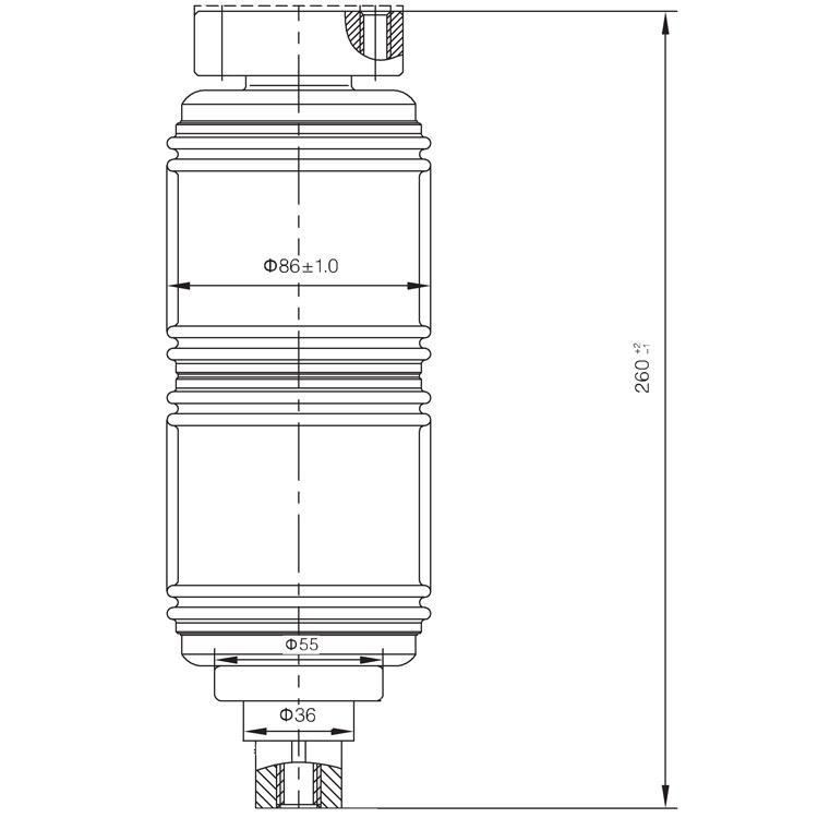 Vacuum Interrupter TD-12KV 1250A 25Q3 (JUC2375) from JUCRO Electric
