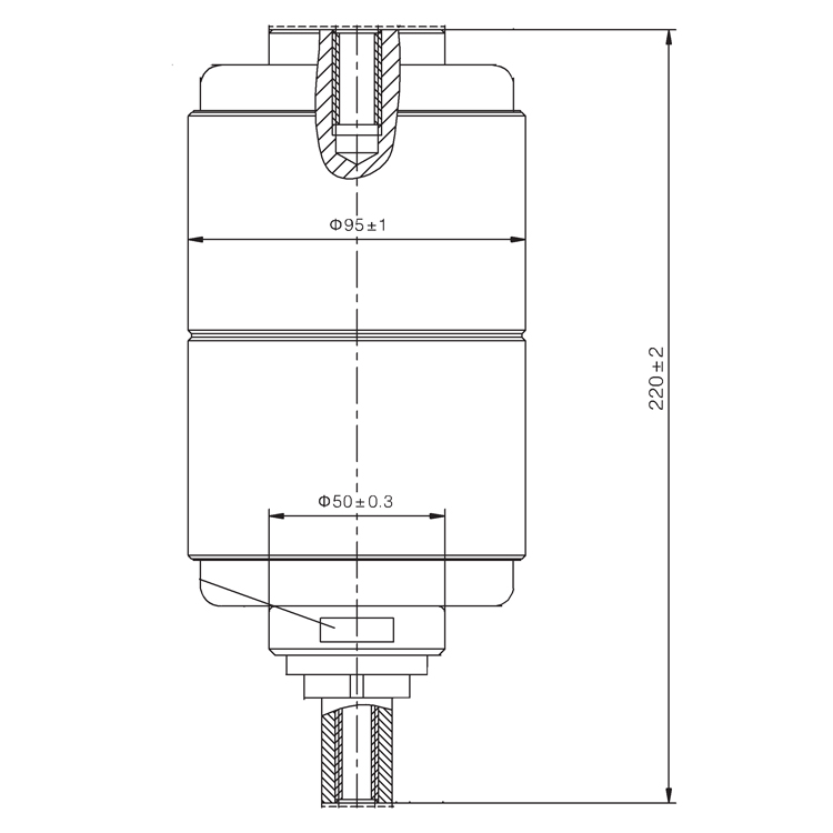 Vacuum Interrupter TD-12KV 1600A 31.5R1 (JUC2395) from JUCRO Electric