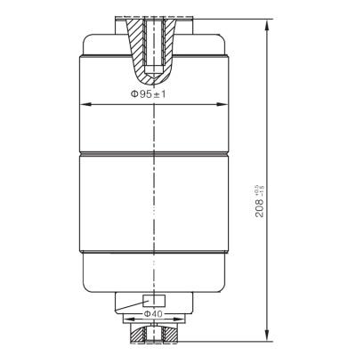 Vacuum Interrupter TD-12KV 1250A 31.5Q1 (JUC2421) from JUCRO Electric