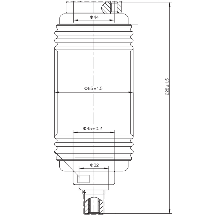 Vacuum Interrupter TD-12KV 1250A 25A3 (JUC2467) from JUCRO Electric