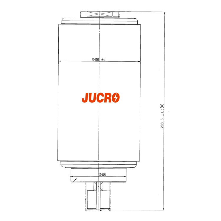 Vacuum Interrupter JUCA-40.5, 38KV 800A 20KA (JUCA-61179A) from JUCRO Electric