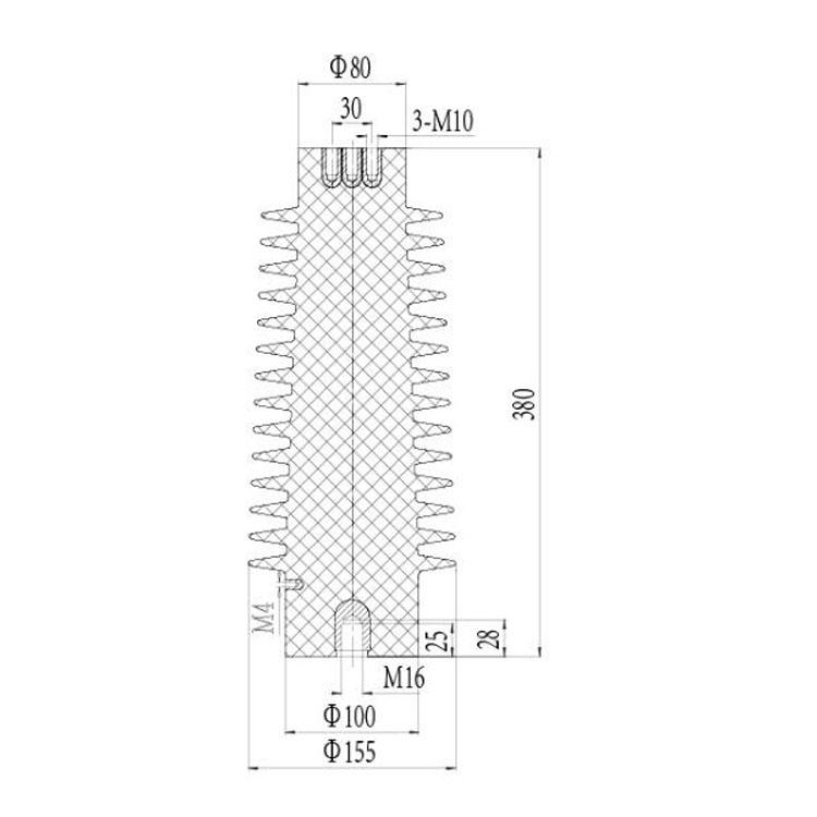 Sensor SSR-35J 155mm*380mm 35KV   from JUCRO Electric