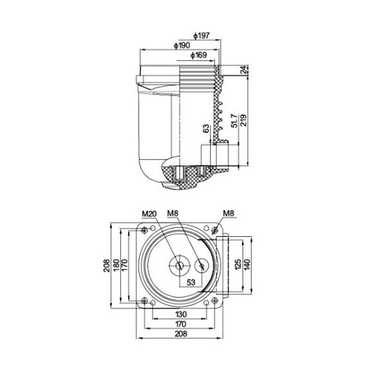 Contact box  CTB 10J 1250A 12KV   for low voltage switchgear use from JUCRO Electric