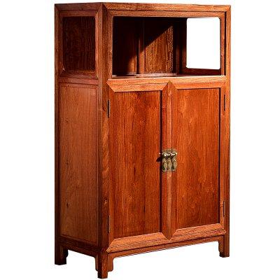紅木餐邊柜緬甸花梨木新中式茶水柜全實木餐廳古典儲物柜家具S6021