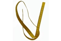 Yellow Leather Measuring Tape