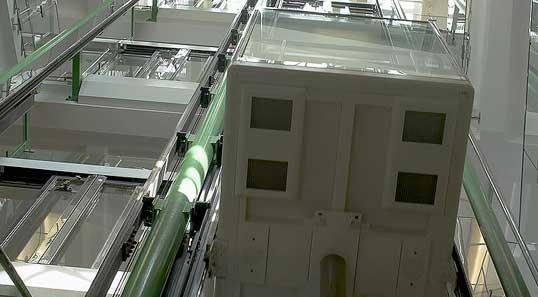 隔振产品降低室内机电梯厢内的结...