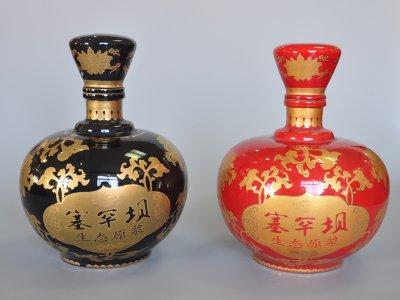 彩釉貼花瓶(10斤)