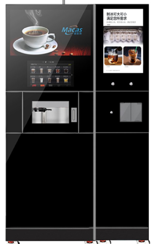 Fully Automatic coffee+ice cubes vending machine