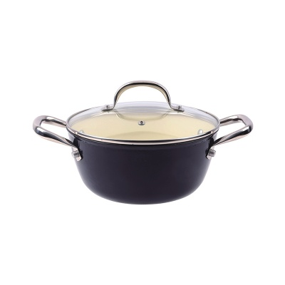 Covered casserole w/ hollow SS side handle