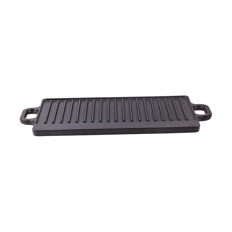 Oval reversible double griddle