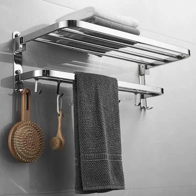 Sus304 stainless foldable towel rail
