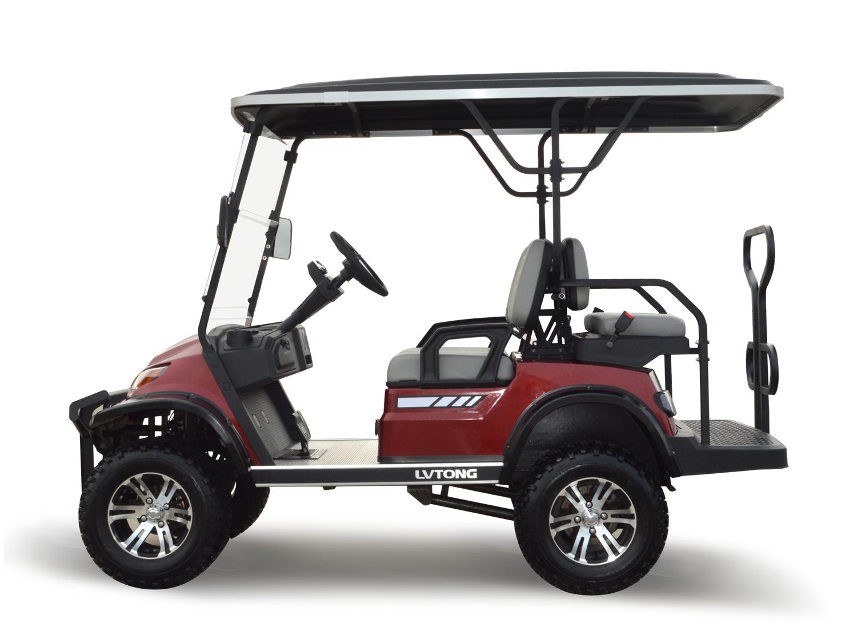 四人座加高装置高尔夫观光车