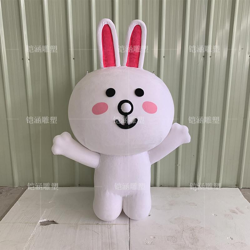 植绒泡沫雕塑兔子摆件