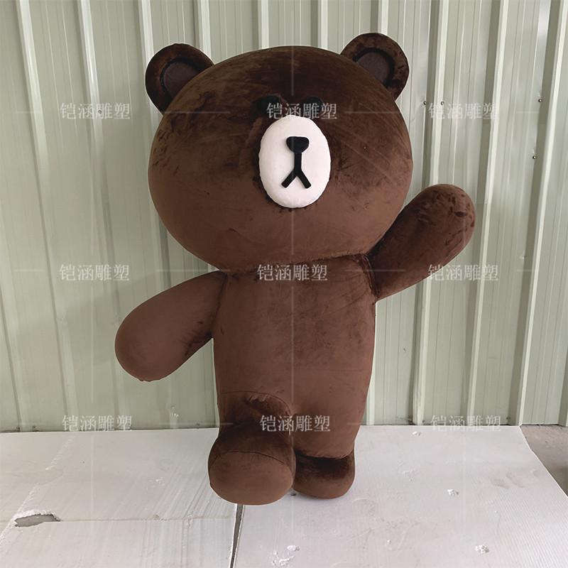 植绒泡沫雕塑小熊摆件