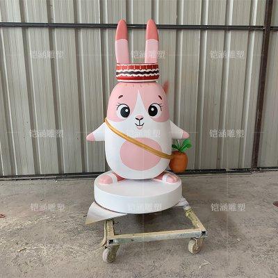 玻璃钢卡通兔子雕塑定做