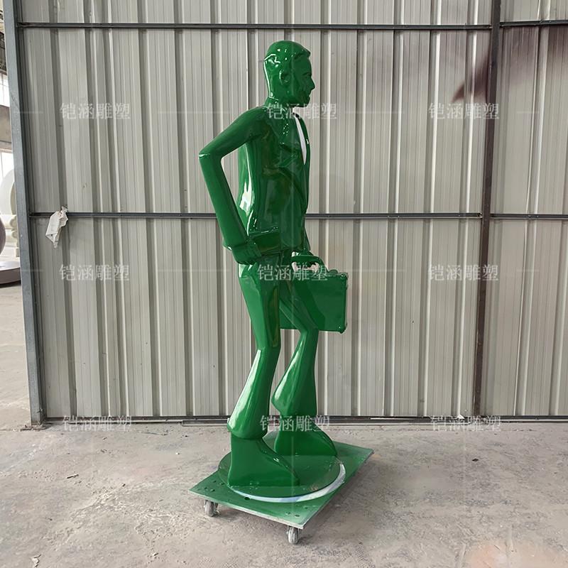玻璃钢商业街白领人物雕塑定做
