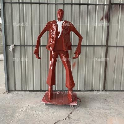 玻璃钢商业街大亨人物雕塑定做
