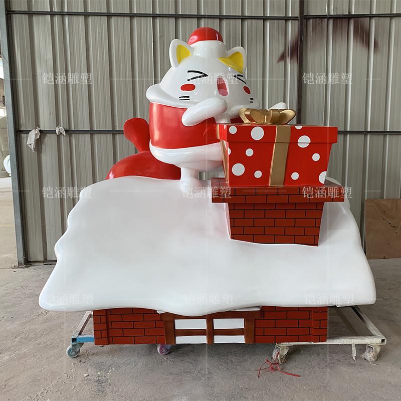 玻璃钢圣诞屋公仔雕塑定做
