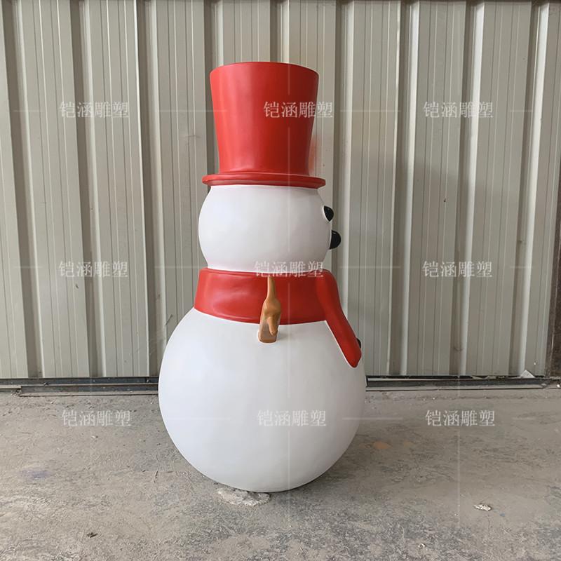 玻璃钢圣诞雪人雕塑定做