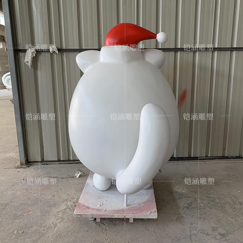 玻璃钢圣诞公仔雕塑定做