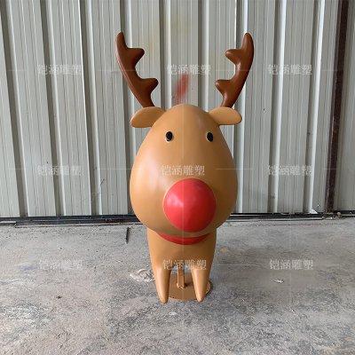 玻璃钢圣诞麋鹿雕塑定做
