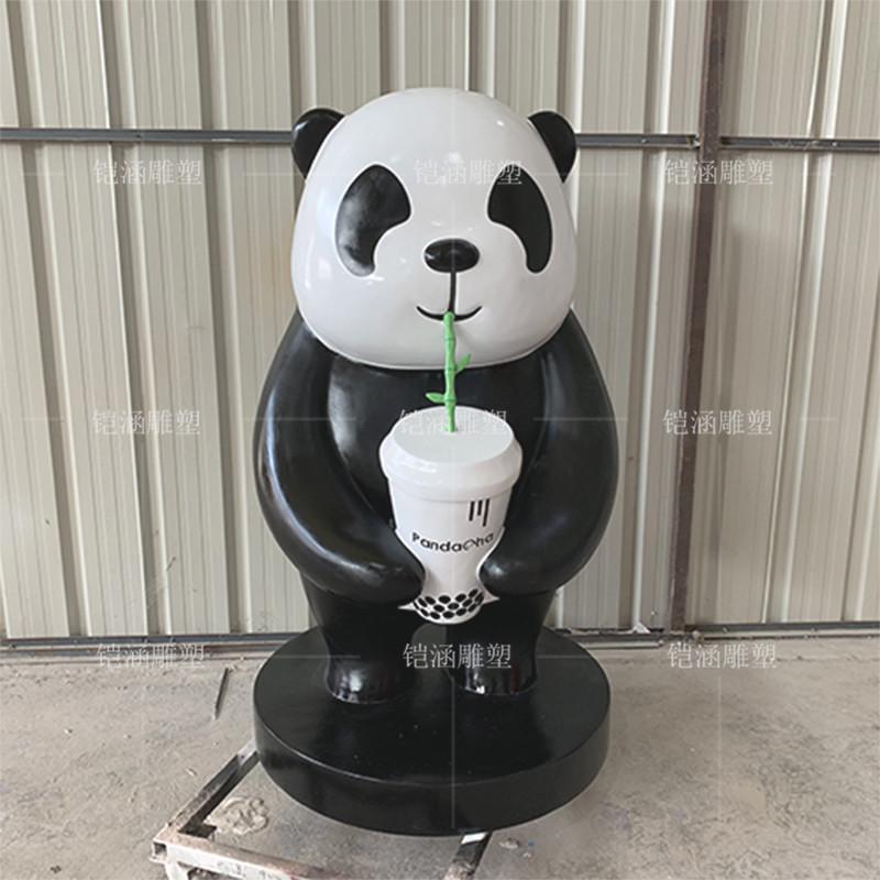 玻璃钢熊猫雕塑定做