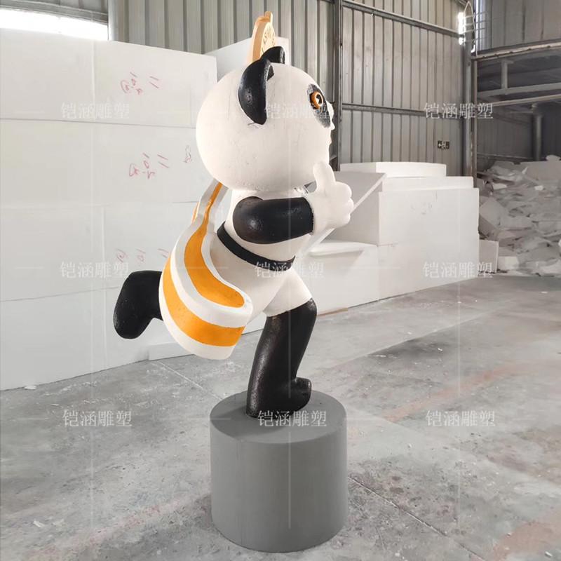 泡沫雕塑熊猫摆件