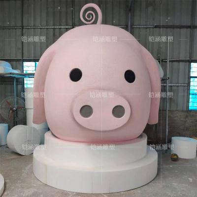 泡沫雕塑动物头部