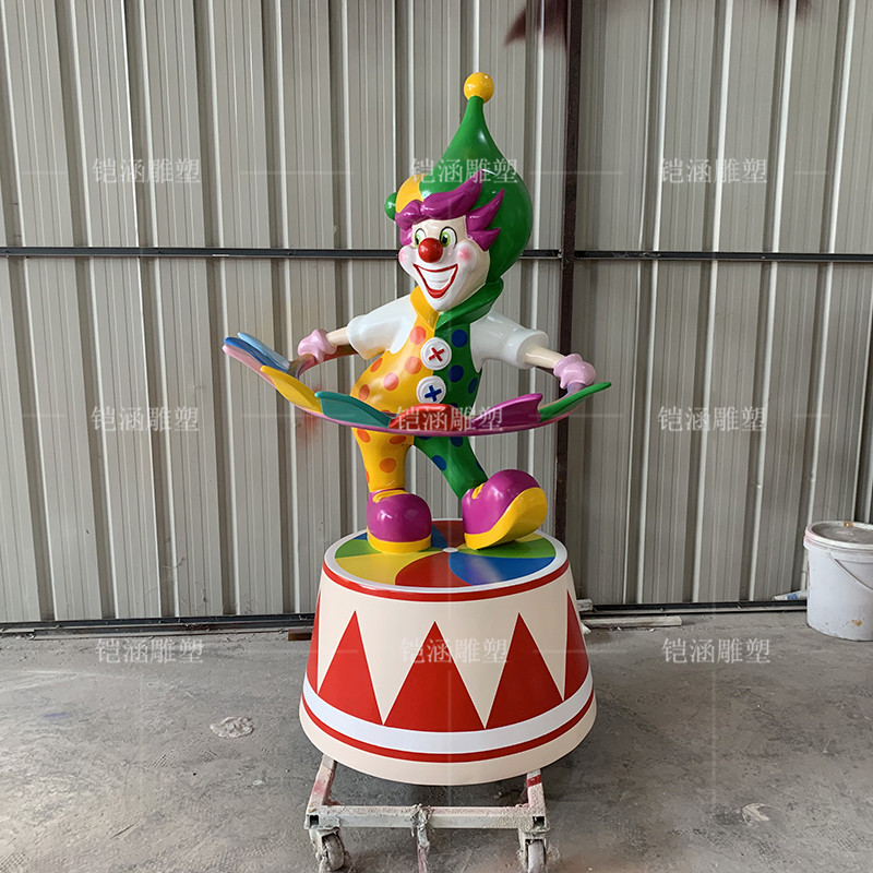 玻璃钢雕塑定制小丑雕塑