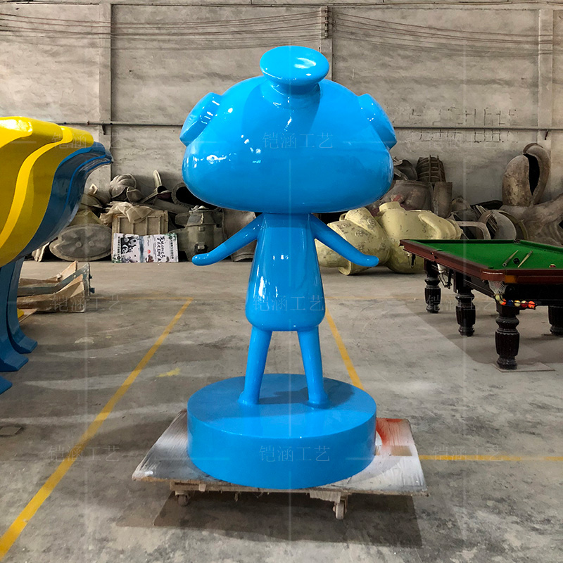 玻璃钢大型公仔雕塑定制门店迎宾玩偶鸭子摆件
